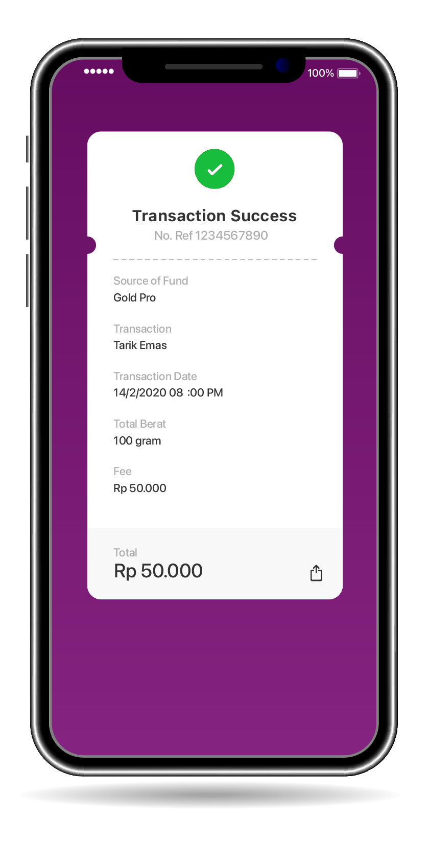 Notification will appear if your transaction is successful You will received your gold within 1 – 3 working days